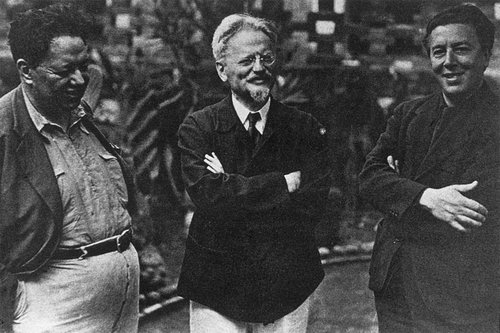 Diego Rivera, André Breton and Leon Trotsky in Mexico City