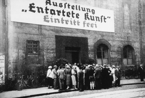 The Degenerate Art exhibition organized by the Nazis in 1937